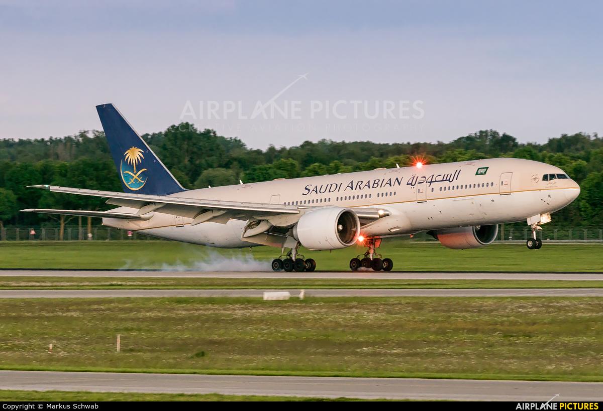 Saudi Arabian Airlines HZ-AKB aircraft at Munich