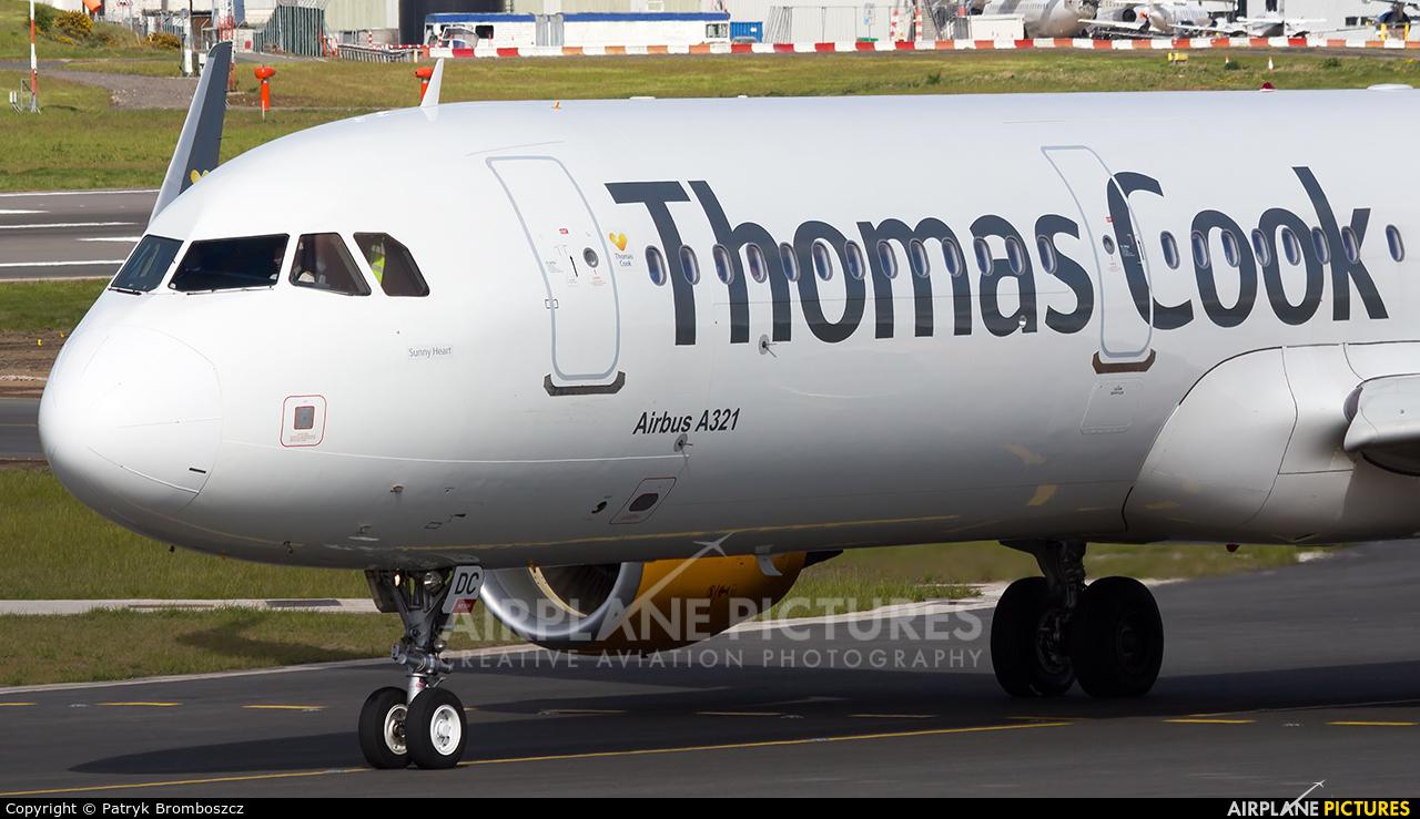 Thomas Cook G-TCDC aircraft at Birmingham
