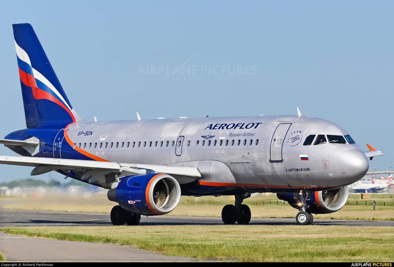 Aeroflot VP-BDN aircraft at London - Heathrow