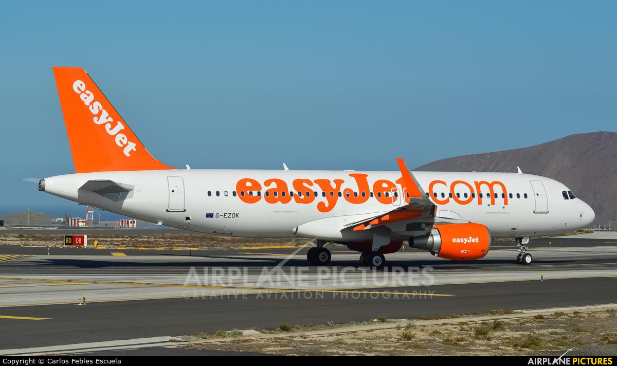 easyJet G-EZOK aircraft at Tenerife Sur - Reina Sofia