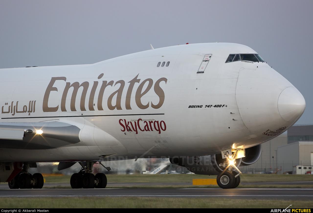 Emirates Sky Cargo OO-THD aircraft at London - Heathrow