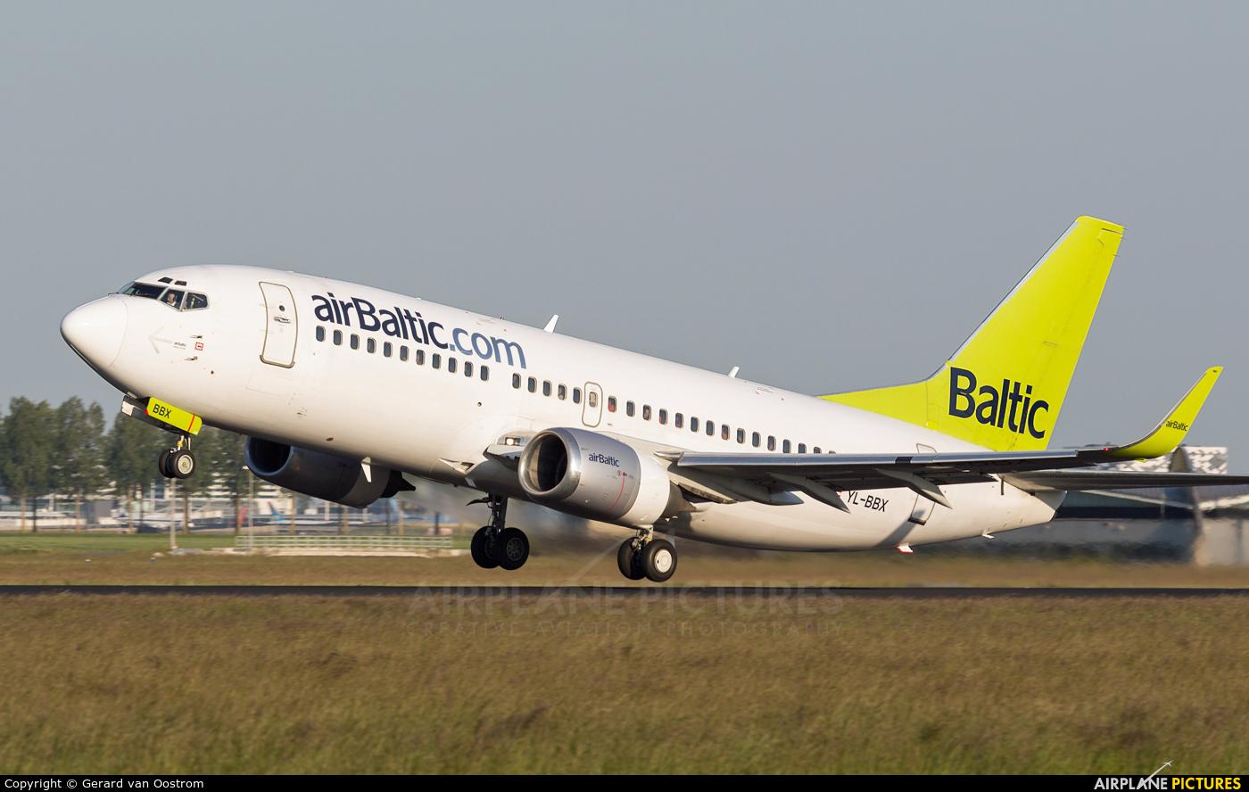 Air Baltic YL-BBX aircraft at Amsterdam - Schiphol