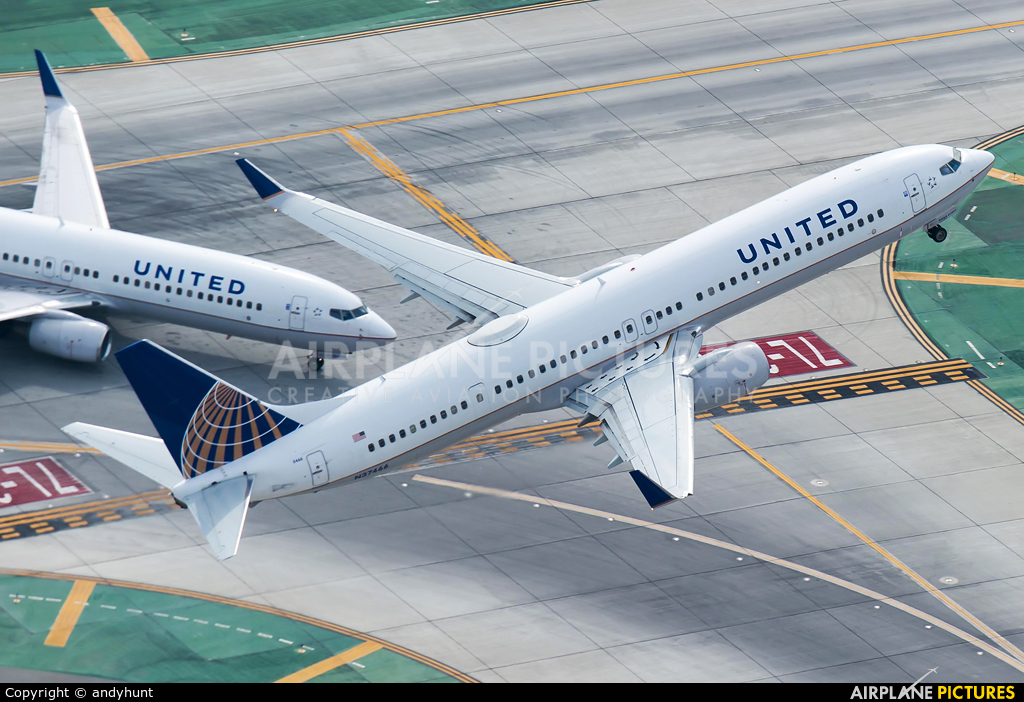 N37466 United Airlines Boeing 737 900 At Los Angeles Intl Photo Id 575284 Airplane Pictures Net
