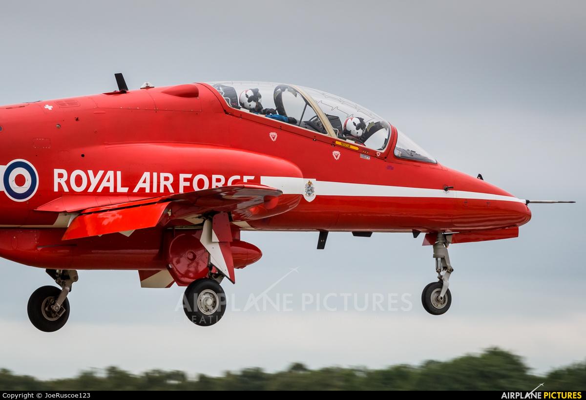 """Royal Air Force """"Red Arrows"""" XX177 aircraft at Shawbury"""