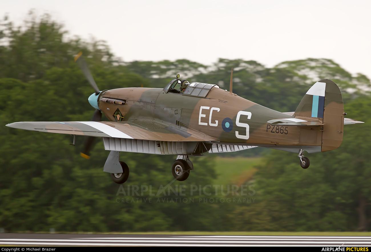 "Royal Air Force ""Battle of Britain Memorial Flight& PZ865 aircraft at Cosford - RAF Museum"