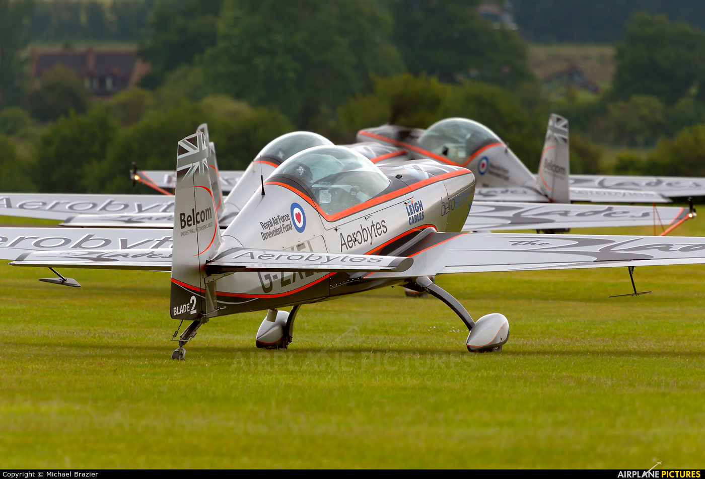 """2 Excel Aviation """"The Blades Aerobatic Team&quo G-ZXEL aircraft at Cosford"""