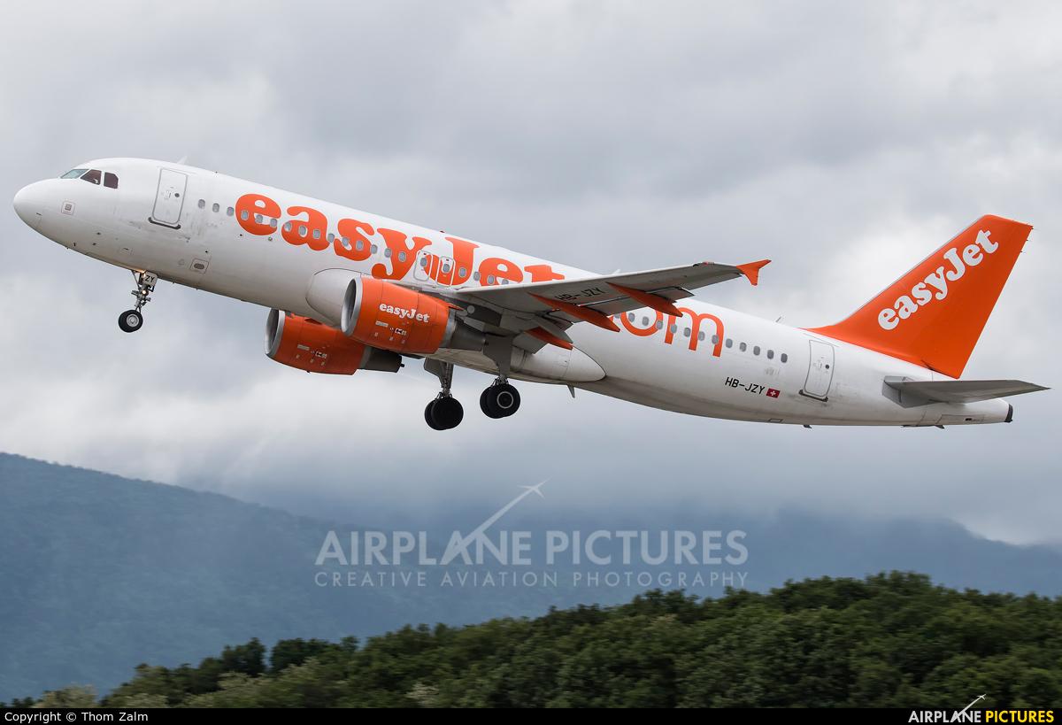 easyJet Switzerland HB-JZY aircraft at Geneva Intl