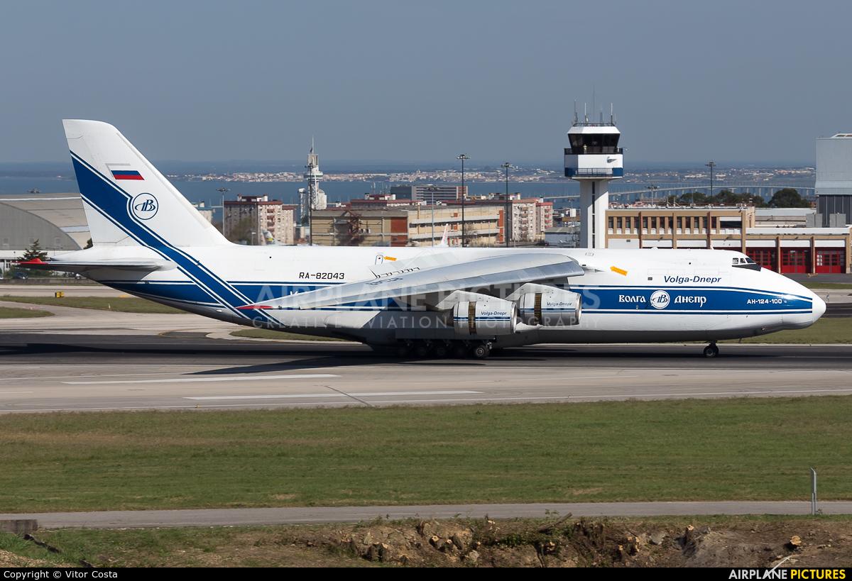 Volga Dnepr Airlines RA-82043 aircraft at Lisbon