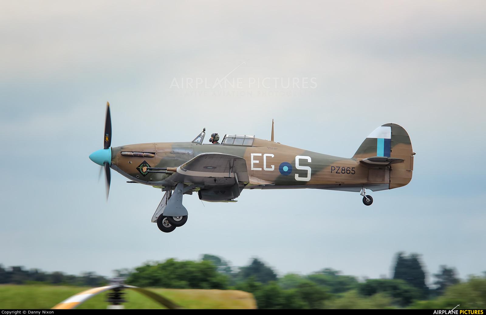 """Royal Air Force """"Battle of Britain Memorial Flight"""" PZ865 aircraft at Cosford"""