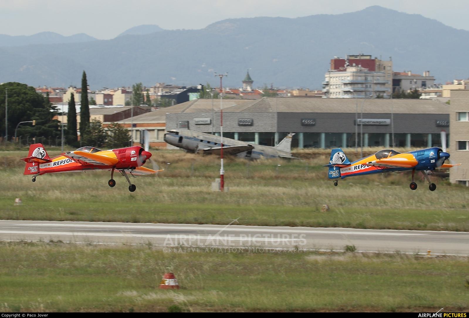 Bravo3/Repsol Team EC-HPD aircraft at Sabadell