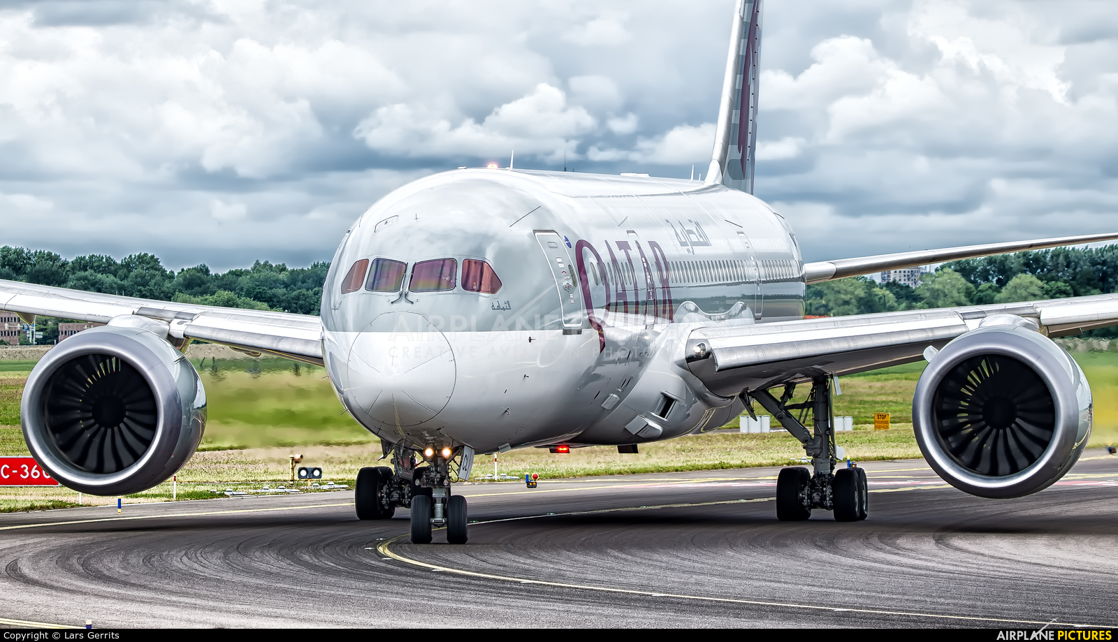 Qatar Airways A7-BCL aircraft at Amsterdam - Schiphol