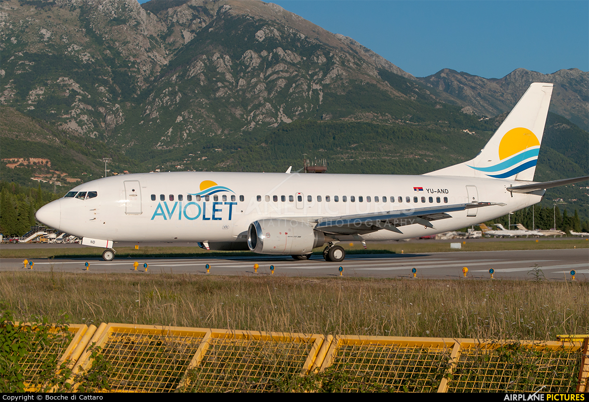 Aviolet YU-AND aircraft at Tivat