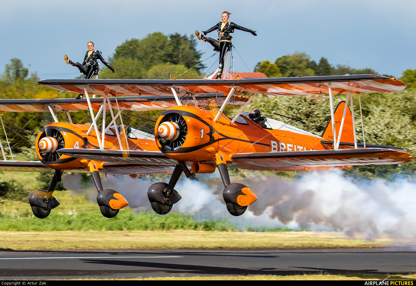 Breitling Wingwalkers N5057V aircraft at Abbeyshrule