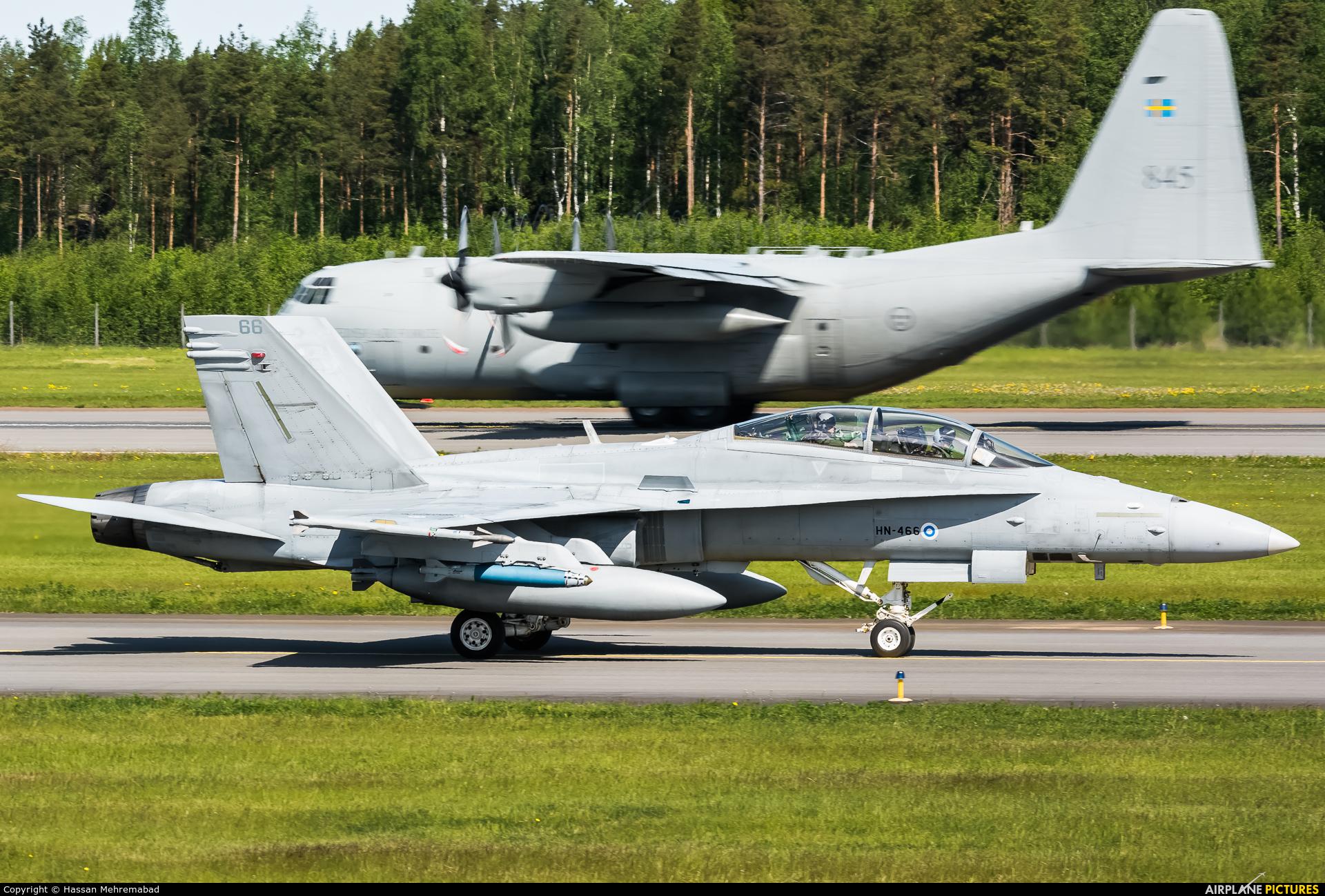 Finland - Air Force HN-466 aircraft at Turku