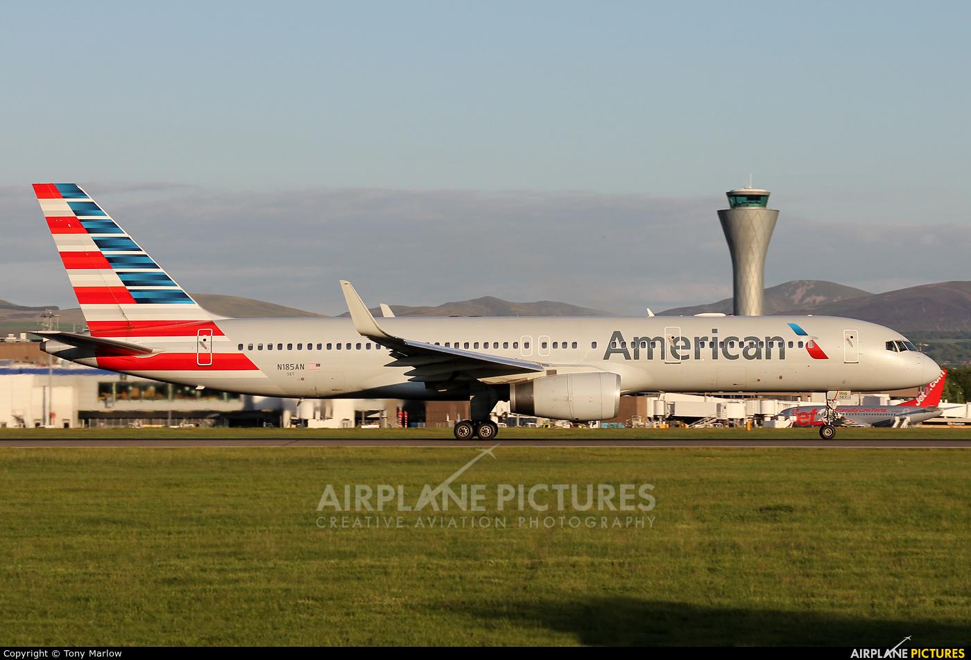 American Airlines N185AN aircraft at Edinburgh