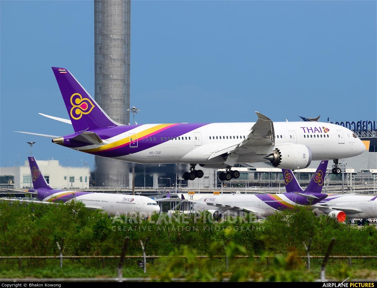 Thai Airways HS-TQB aircraft at Bangkok - Suvarnabhumi