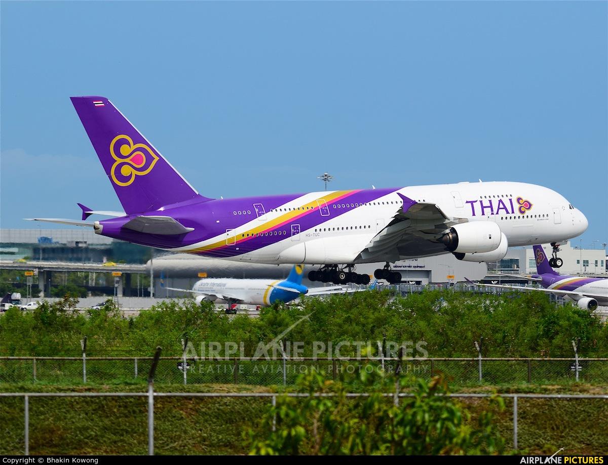 Thai Airways HS-TUC aircraft at Bangkok - Suvarnabhumi