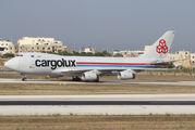First Cargolux Boeing 747-400F in Malta  title=