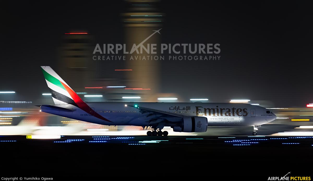 Emirates Airlines A6-EWJ aircraft at Tokyo - Haneda Intl