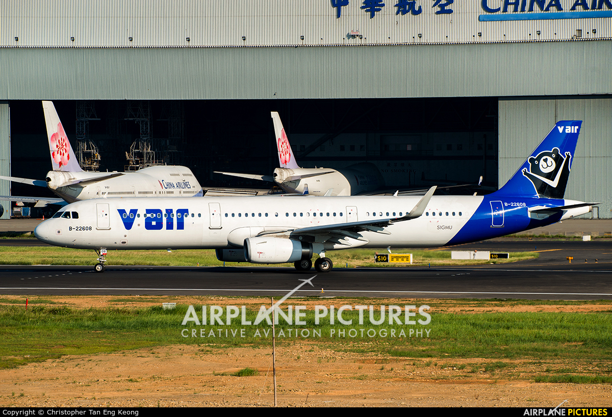 V Air B-22608 aircraft at Taipei - Taoyuan