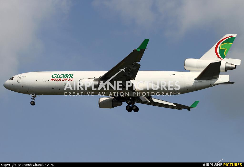 Global Africa Cargo Z-GAA aircraft at Singapore - Changi