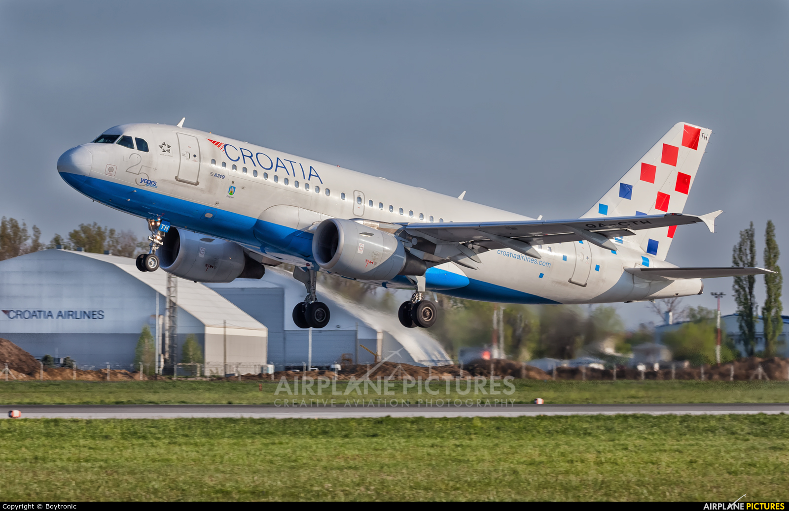 Croatia Airlines 9A-CTH aircraft at Zagreb