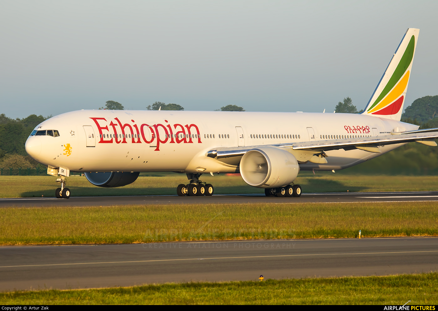 Ethiopian Airlines ET-ASK aircraft at Dublin