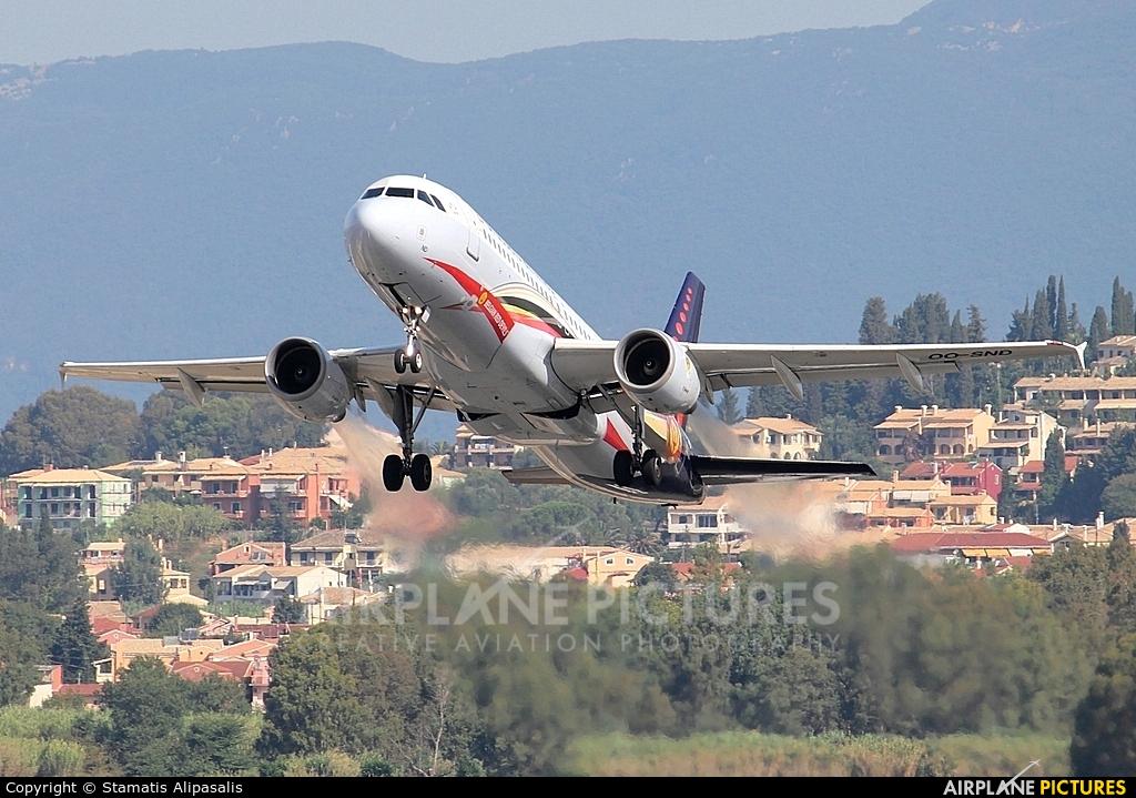 Brussels Airlines OO-SND aircraft at Corfu - Ioannis Kapodistrias