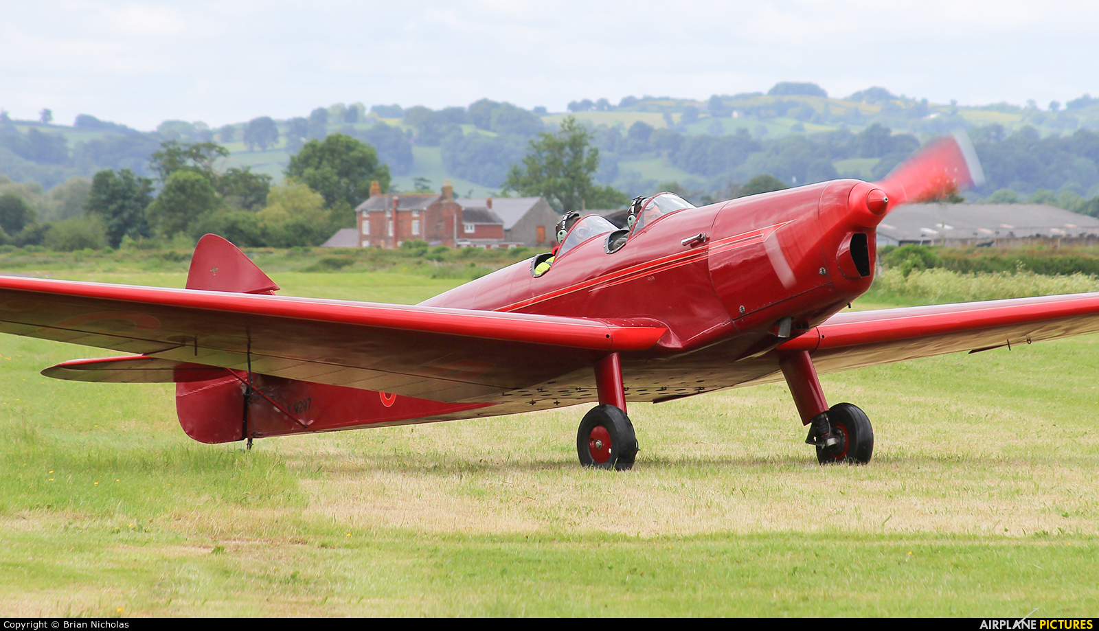 Private G-AFPN aircraft at Welshpool