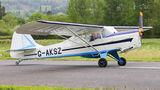 Private Taylorcraft Auster V G-AKSZ at Welshpool airport