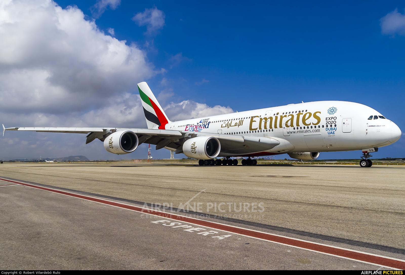 Emirates Airlines A6-EDQ aircraft at Barcelona - El Prat