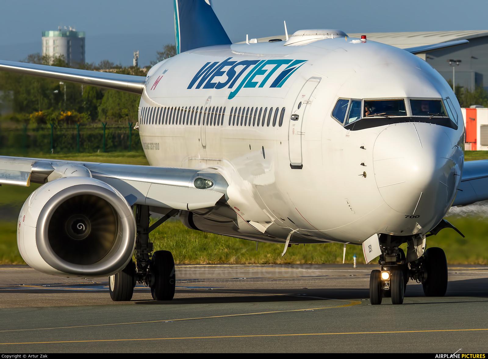 WestJet Airlines C-FWSK aircraft at Dublin