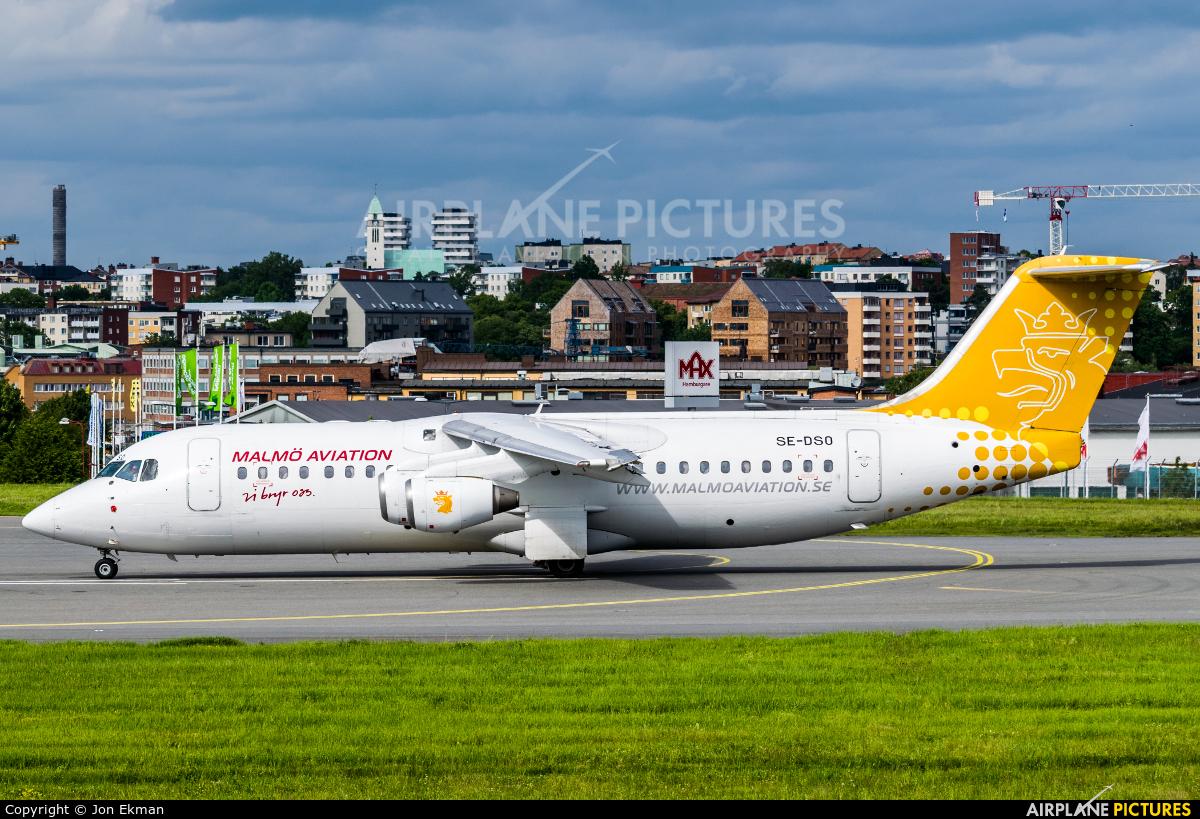 Malmo Aviation SE-DSO aircraft at Stockholm - Bromma