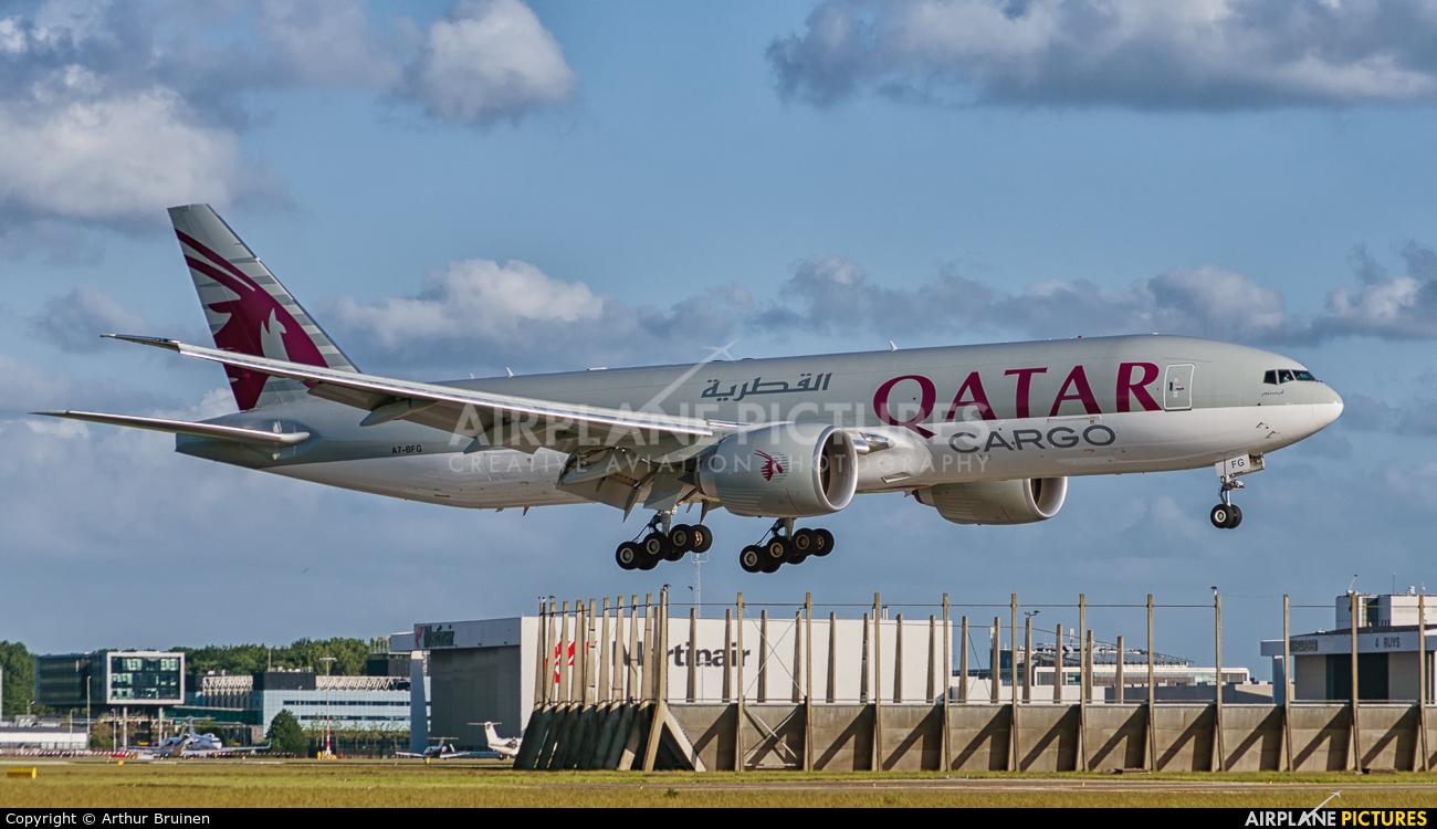 Qatar Airways Cargo A7-BFG aircraft at Amsterdam - Schiphol