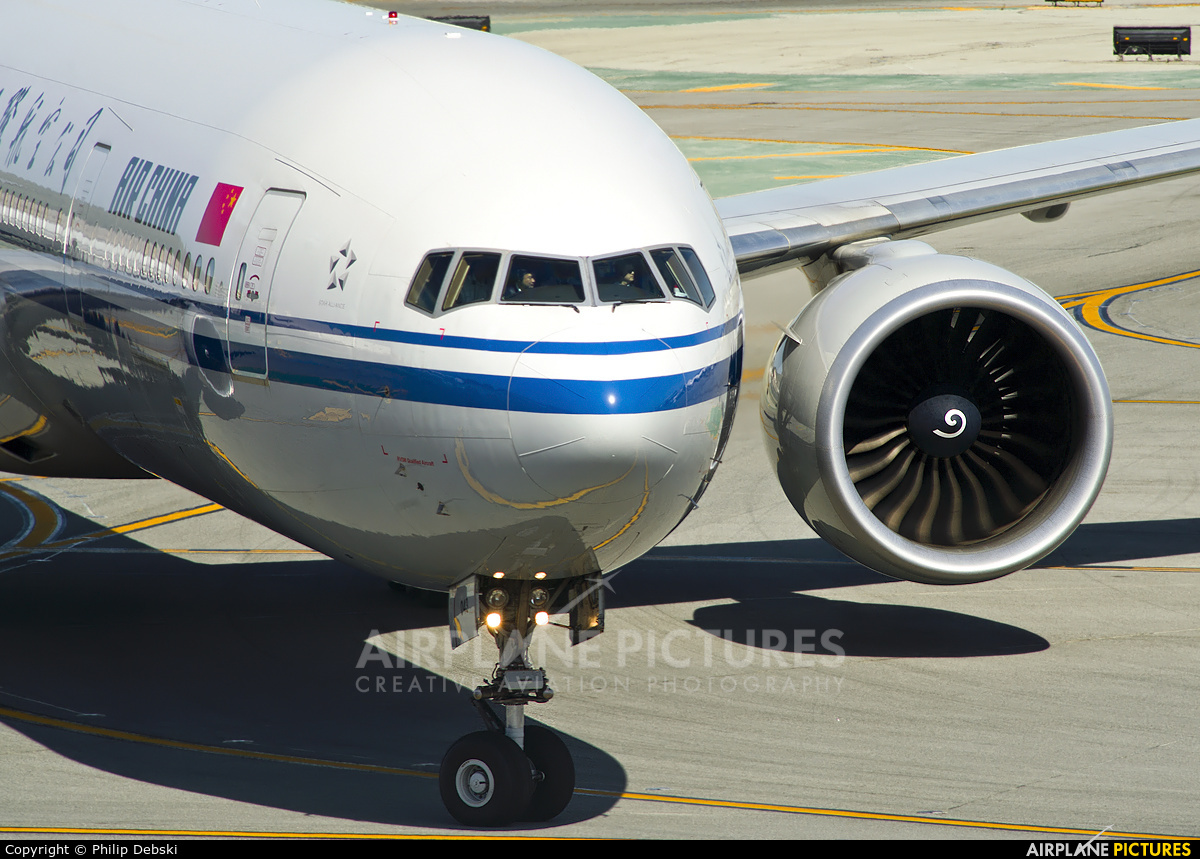 Air China B-2043 aircraft at San Francisco Intl