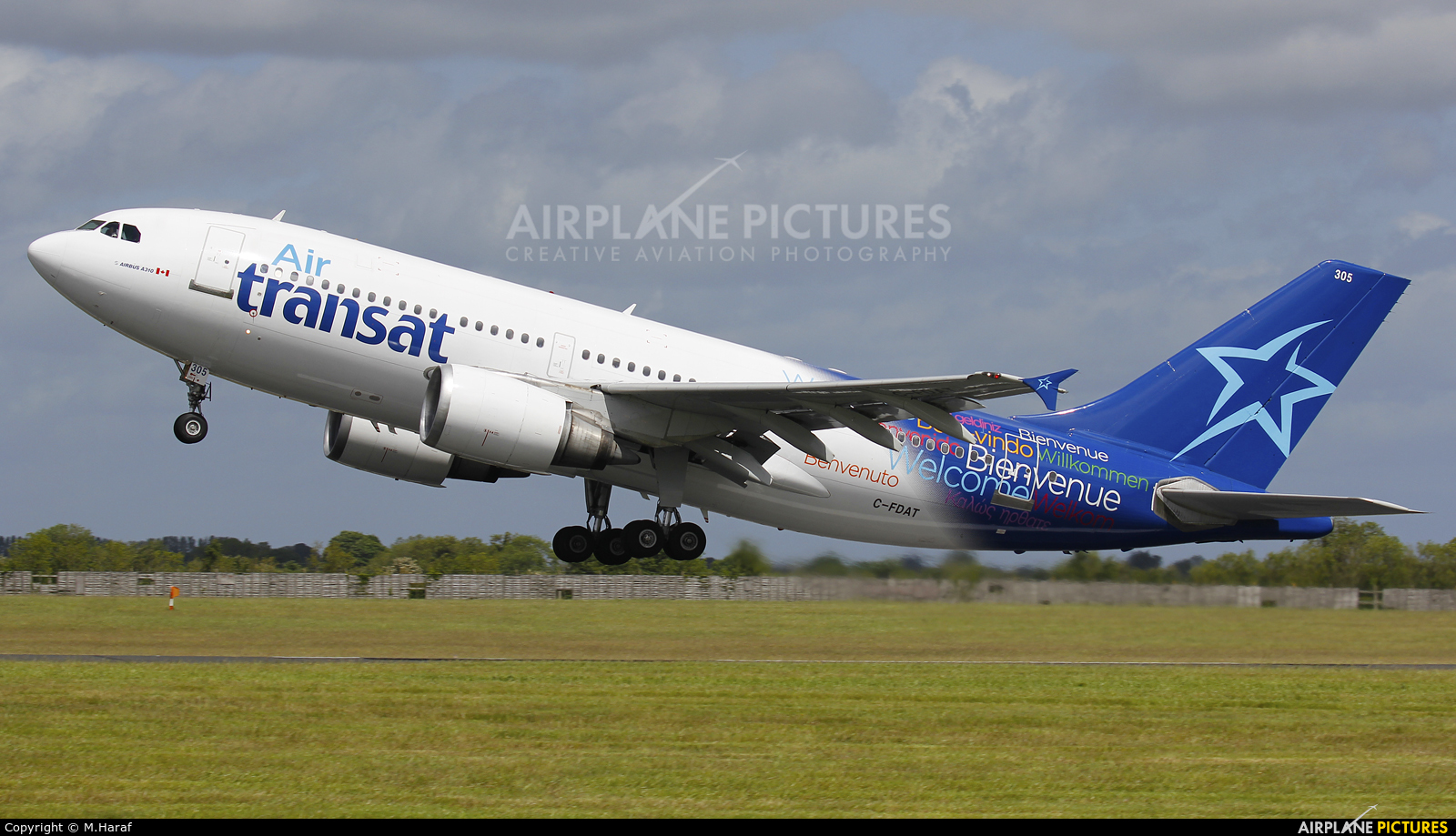 Air Transat C-FDAT aircraft at Dublin