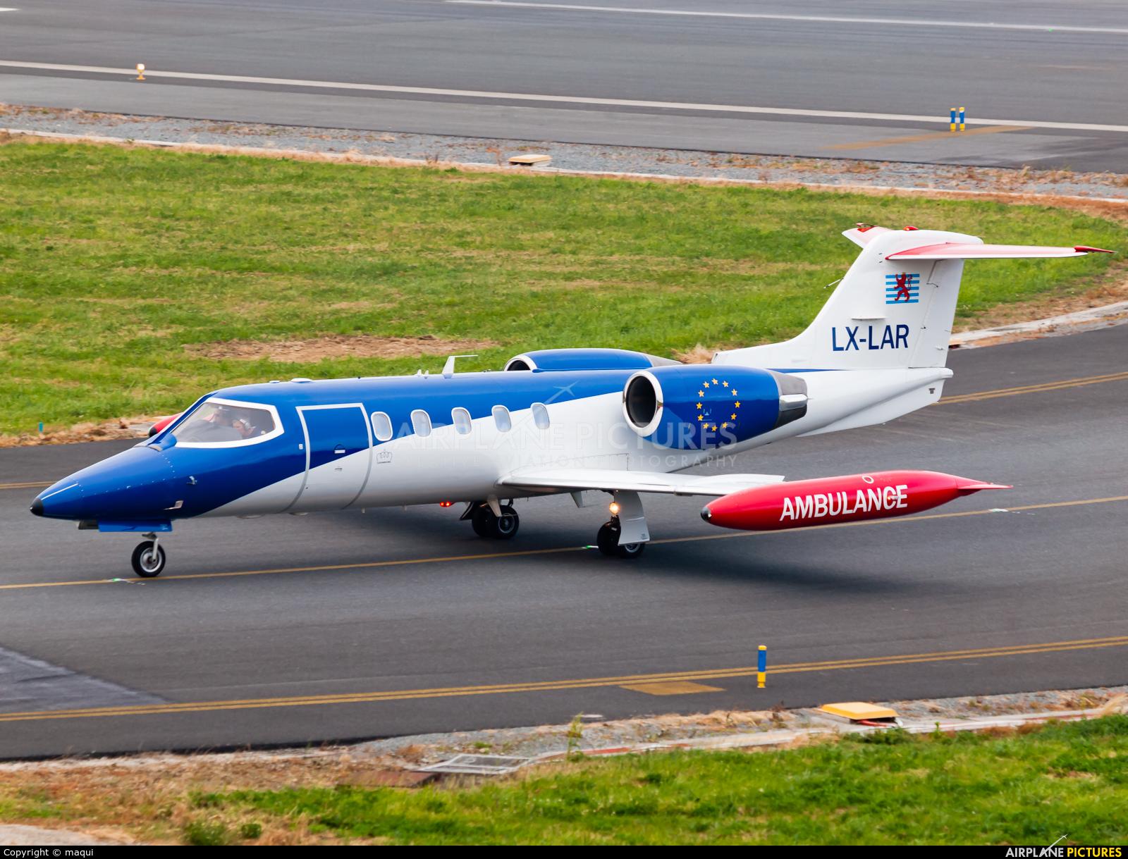 Luxembourg Air Rescue LX-LAR aircraft at La Coruña
