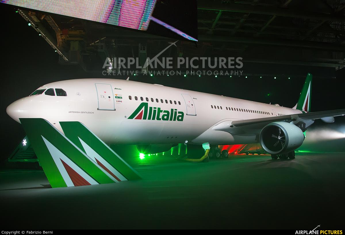 Alitalia I-EJGA aircraft at Rome - Fiumicino