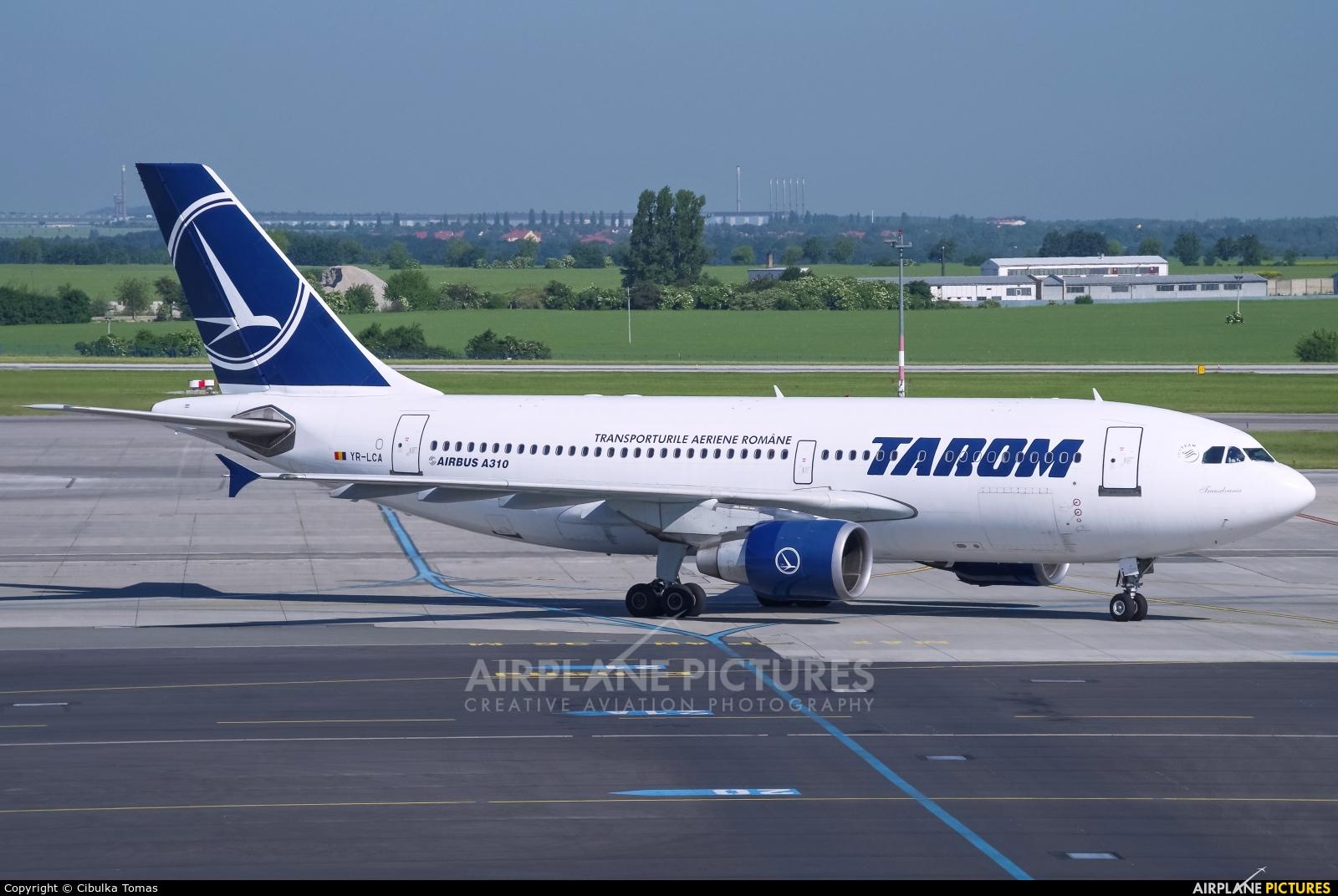 Tarom YR-LCA aircraft at Prague - Václav Havel