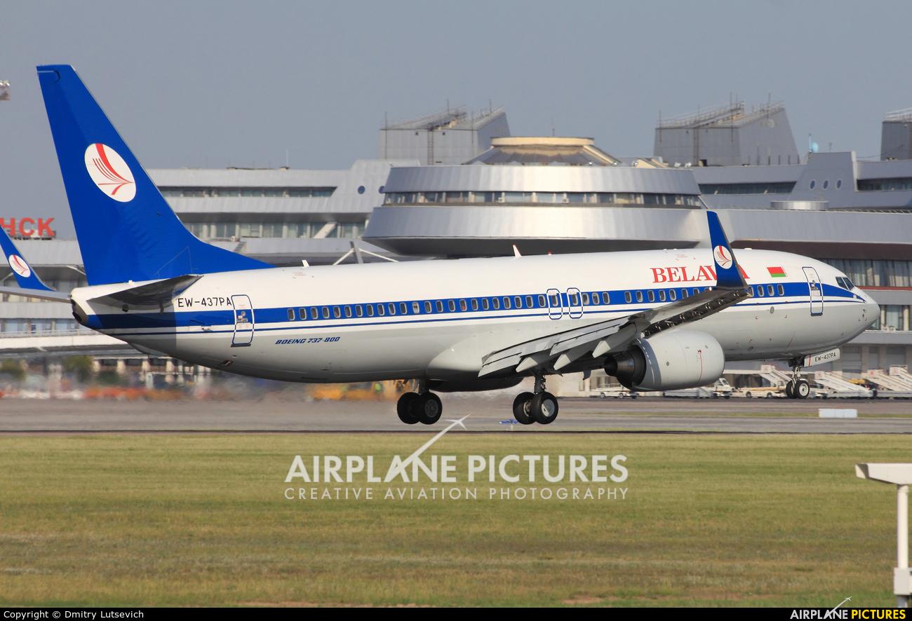 Belavia EW-437PA aircraft at Minsk Intl