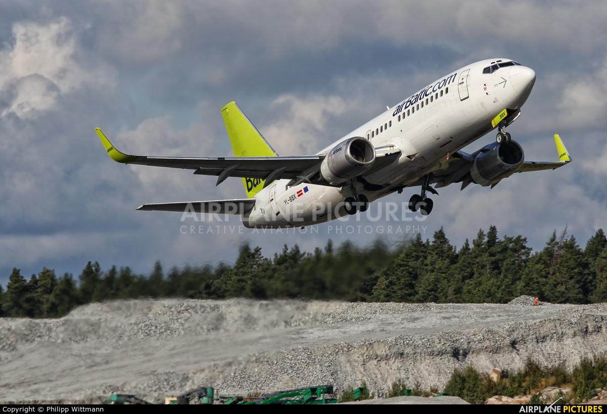 Air Baltic YL-BBX aircraft at Stockholm - Arlanda