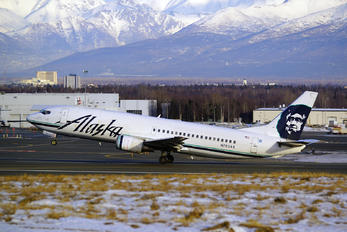 N763AS - Alaska Airlines Boeing 737-400(Combi)