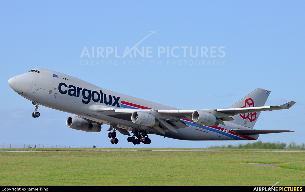 Cargolux LX-SCV aircraft at East Midlands