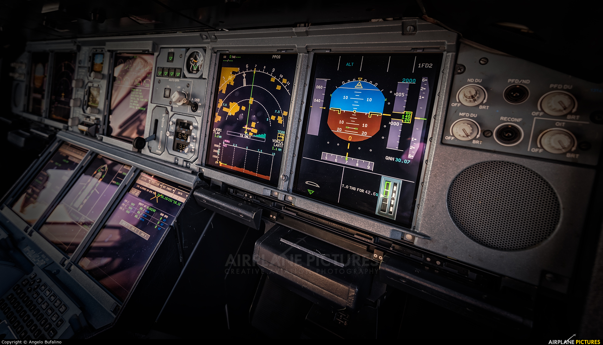 QANTAS VH-OQJ aircraft at Los Angeles Intl