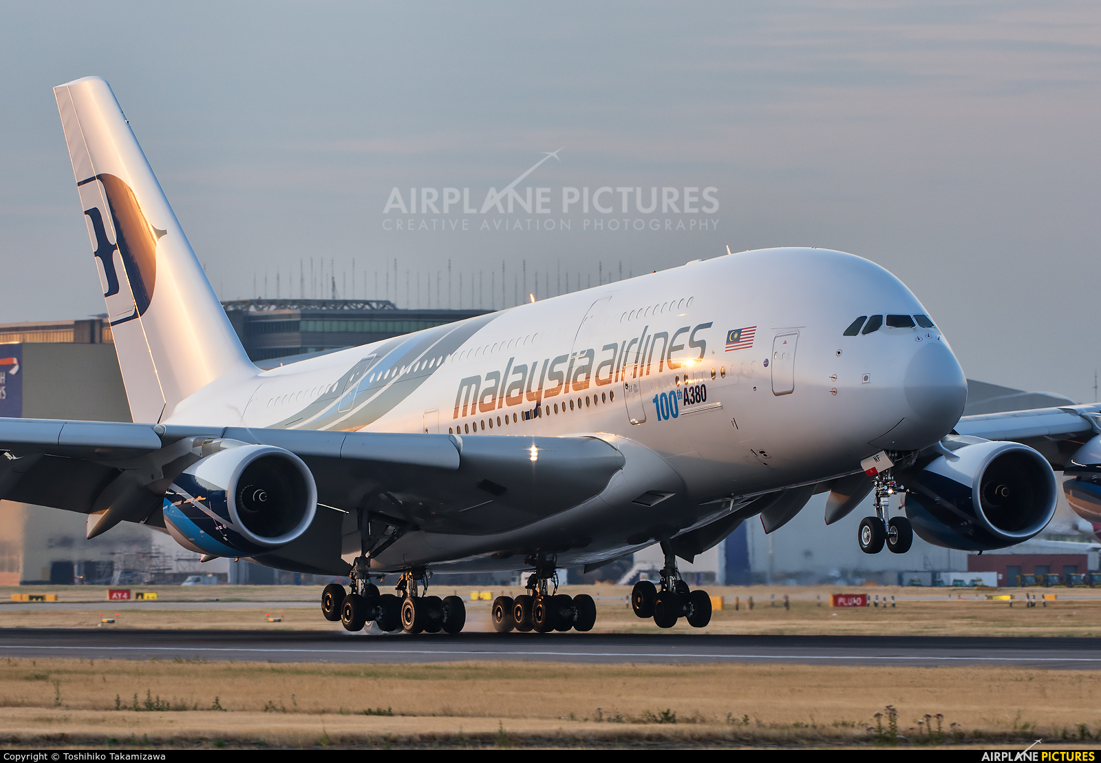 Malaysia Airlines 9M-MNF aircraft at London - Heathrow