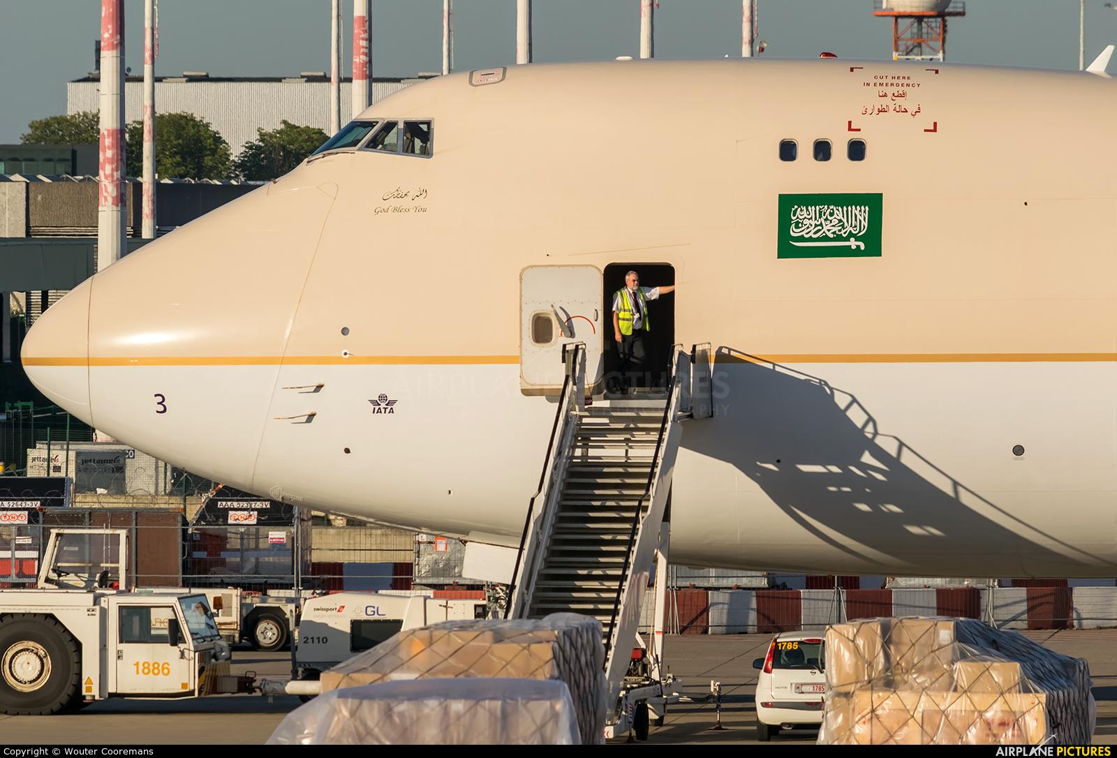 Saudi Arabian Cargo HZ-AI3 aircraft at Brussels - Zaventem
