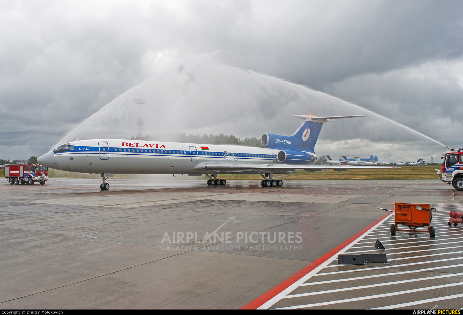 Belavia EW-85748 aircraft at Minsk Intl