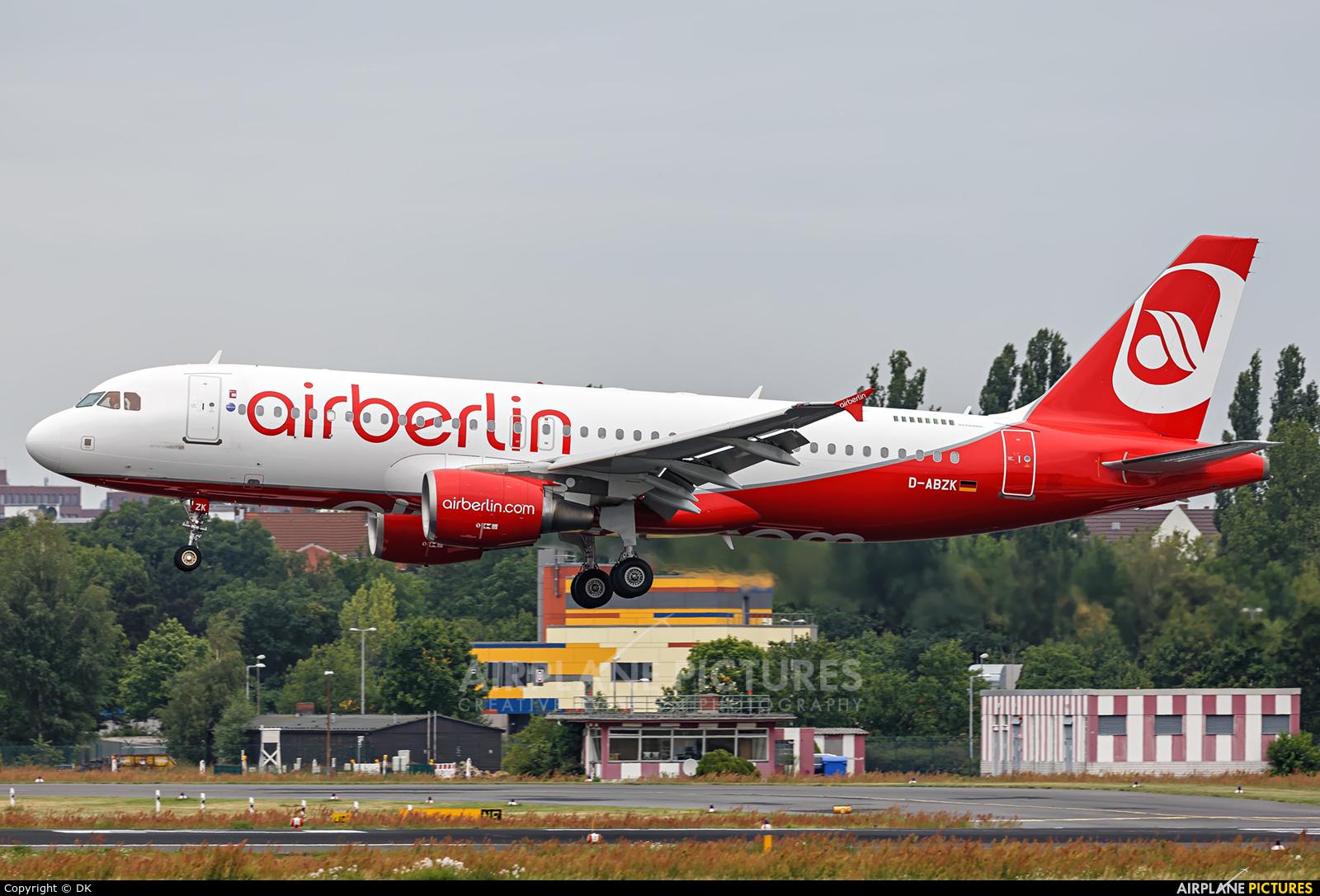 Air Berlin D-ABZK aircraft at Berlin - Tegel