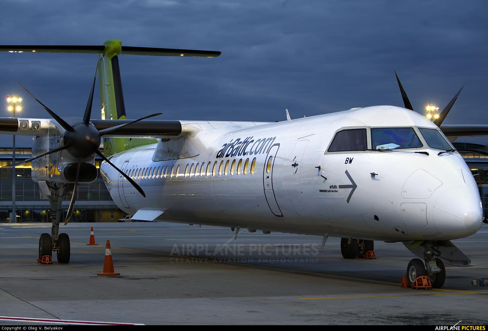 Air Baltic YL-BBW aircraft at Kyiv - Borispol