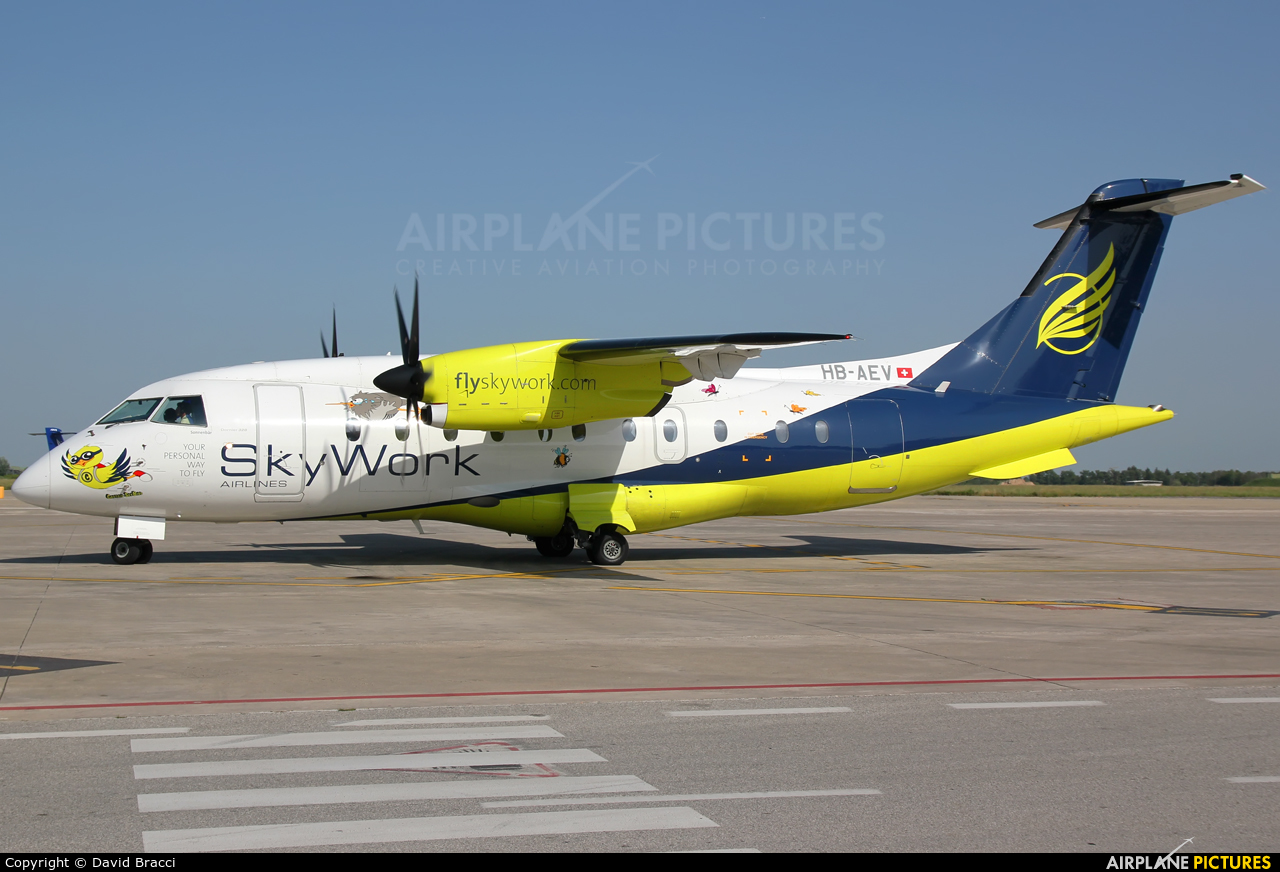 Sky Work Airlines HB-AEV aircraft at Pisa - San Giusto